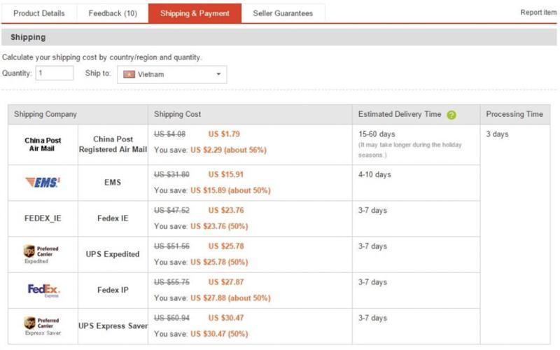 Lựa chọn hình thức giao hàng tiết kiệm và nhanh nhất